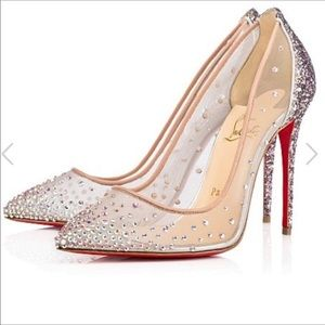 Christian Louboutin Strass Follies Glitter heels